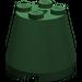 LEGO Dark Green Cone 3 x 3 x 2 with Axle Hole