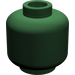 LEGO Dark Green Plain Head (Recessed Solid Stud) (3626)
