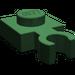 LEGO Dark Green Plate 1 x 1 with Vertical Clip (Thin Open 'O' Clip) (4085)
