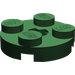 LEGO Dark Green Plate 2 x 2 Round with Axle Hole (with 'X' Axle Hole) (4032)