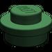 LEGO Dark Green Round Plate 1 x 1