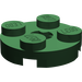 LEGO Dark Green Round Plate 2 x 2 with Axle Hole (with 'X' Axle Hole) (4032)
