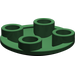 LEGO Dark Green Round Plate 2 x 2 with Rounded Bottom
