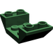 LEGO Dark Green Slope 45° 4 x 2 Double Inverted with Open Center (4871)