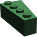 LEGO Dark Green Wedge 2 x 4 Left