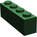 LEGO Dark Green Wedge 2 x 4 Sloped Left (43721)