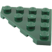 LEGO Dark Green Wedge Plate 45° 4 x 4 (30503)