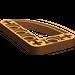 LEGO Dark Orange Beam 3 x 5 x 0.5 Bent 90 Quarter Ellipse (32250)