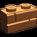 LEGO Dark Orange Brick 1 x 2 with Embossed Bricks