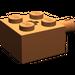 LEGO Dark Orange Brick 2 x 2 with Pin and Axlehole