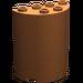 LEGO Dark Orange Cylinder 2 x 4 x 4