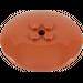 LEGO Dark Orange Dish 6 x 6 Inverted (Radar) Solid Studs (44375)