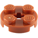 LEGO Dark Orange Plate 2 x 2 Round with Axle Hole (with '+' Axle Hole) (4032)