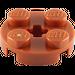 LEGO Dark Orange Plate 2 x 2 Round with Axle Hole (with '+' Axle Hole) (4032)