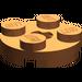 LEGO Dark Orange Plate 2 x 2 Round with Axle Hole (with 'X' Axle Hole) (4032)