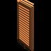 LEGO Dark Orange Window 1 x 2 x 3 Shutter (3856)