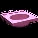 LEGO Dark Pink Belville Sink 4 x 4 Oval
