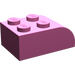 LEGO Dark Pink Brick 2 x 3 with Curved Top