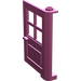 LEGO Dark Pink Door 1 x 4 x 5 with 4 Panes