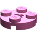 LEGO Dark Pink Plate 2 x 2 Round with Axle Hole (with '+' Axle Hole)