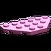 LEGO Dark Pink Wedge Plate 3 x 6 with 45º Corners