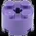 LEGO Dark Purple Brick 2 x 2 Round (6143)