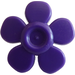 LEGO Dark Purple Flower with Smooth Petals (93080)