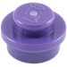 LEGO Dark Purple Plate 1 x 1 Round (6141)