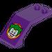 LEGO Dark Purple Windscreen 5 x 2 x 1 & 2/3 with Sticker from Set 6863