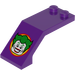 LEGO Dark Purple Windscreen 5 x 2 x 1 & 2/3 with The Joker Sticker