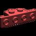LEGO Dark Red Bracket 1 x 2 - 1 x 4 without Rounded Corners (2436)