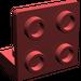 LEGO Dark Red Bracket 1 x 2 - 2 x 2 Up (99207)
