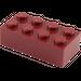 LEGO Dark Red Brick 2 x 4 (3001)