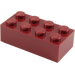 LEGO Dark Red Brick 2 x 4 (3001)