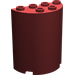 LEGO Dark Red Cylinder 2 x 4 x 4 (6218)