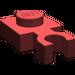 LEGO Dark Red Plate 1 x 1 with Vertical Clip (Thin 'U' Clip) (4085)