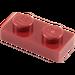 LEGO Rouge foncé assiette 1 x 2 (3023)