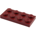 LEGO Dark Red Plate 2 x 4 (3020)