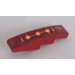 LEGO Dark Red Slope 1 x 4 Curved with 3 Fire Cores Sticker