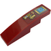 LEGO Dark Red Slope 1 x 4 Curved with Blue and Gold Decoration Sticker