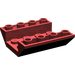 LEGO Dark Red Slope 4 x 4 (45°) Double Inverted with Open Center (No Holes) (4854)