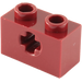 LEGO Dark Red Technic Brick 1 x 2 with Axle Hole (Old Style with '+' Opening) (31493 / 32064)