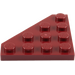 LEGO Dark Red Wedge Plate 4 x 4 (45°) (30503)