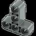 LEGO Dark Stone Gray Beam 3 x 3 T-Shaped (60484)