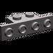 LEGO Dark Stone Gray Bracket 1 x 2 - 1 x 4 without Rounded Corners (2436)