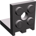 LEGO Dark Stone Gray Bracket 2 x 2 - 2 x 2 Up