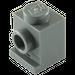 LEGO Dark Stone Gray Brick 1 x 1 with Headlight and Slot (4070)