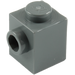 LEGO Dark Stone Gray Brick 1 x 1 with Stud on 1 Side (87087)