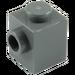 LEGO Dark Stone Gray Brick 1 x 1 with Stud on One Side (87087)