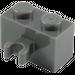 LEGO Dark Stone Gray Brick 1 x 2 with Vertical Clip (Open 'O' clip) (30237 / 42925)